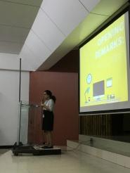 Shaniqua giving her opening remarks yaaaaaas